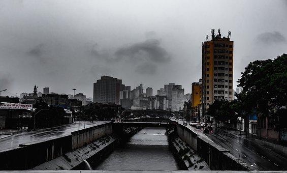 City, Cityscape, Sky, Skyscrapers, São Paulo, Brazil