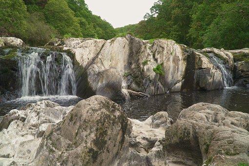Waterfall, River, Waterfalls, Water, Nature, Stream