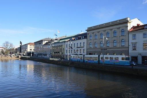 Gothenburg, Sweden, Building, Walk, City, Architecture