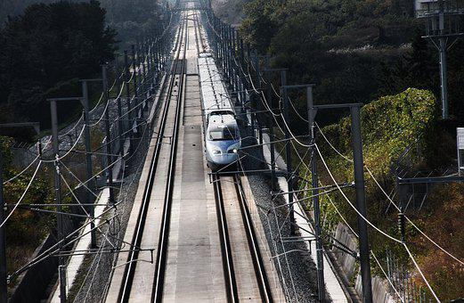 Train, Korea, Ktx, Travel, The Railroad Line