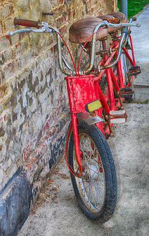 Bike, Triplet, Bicycle, Old, Time, Antique, Urbex, Trio