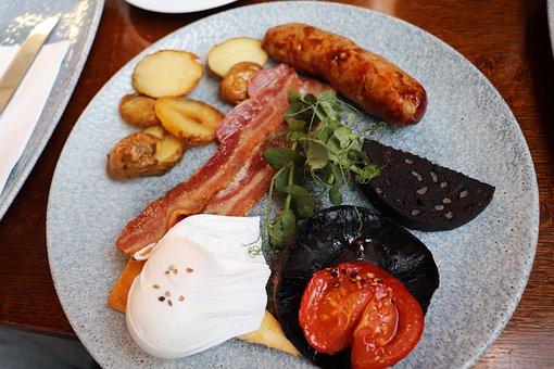 English Breakfast, Breakfast, Egg, Sausage, Bacon