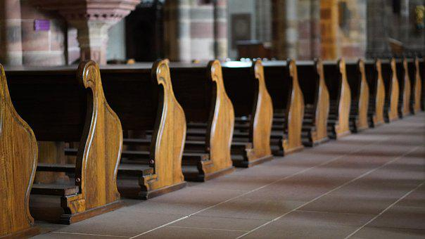 Church, Pew, Church Pews, Chapel, Wood, Architecture