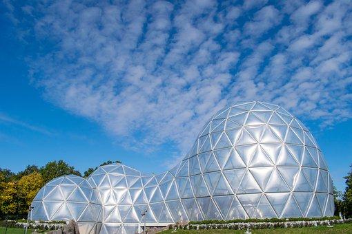 Futuristic, Dome, Mitoseum, Architecture, Glass