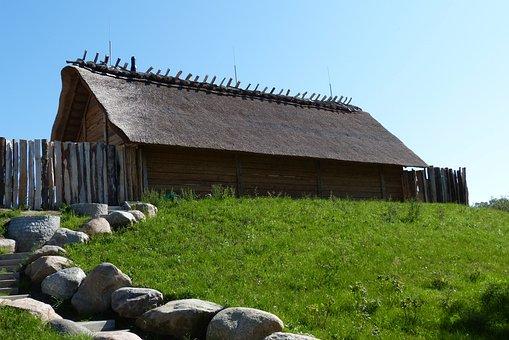 Baltic Sea, Hut, Green, Summer, Coast, Landscape