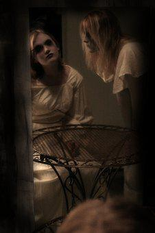 Mirror, Scary, Make-up, Dolls, Horror, Creepy, Dark