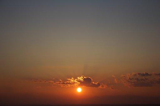Sunset, Evening, Sun, Japan, Nature, Scenery