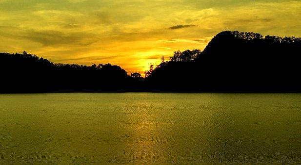 Golden Hour, Blink, Landscape, Golden Cloud, Lake