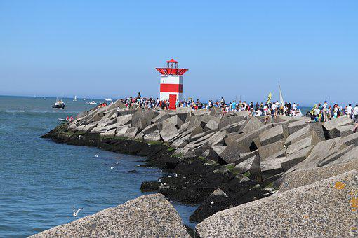 Scheveningen, Beach, Bay, Lighthouse, Coast