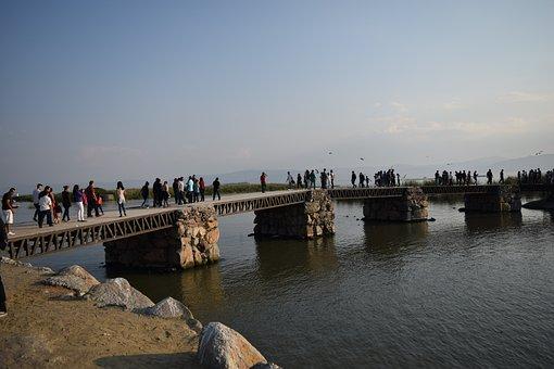 Lake Chapala, Jalisco, Bridge, Lake, Landscape, Mexico