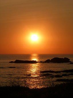 Sun, Sea, Ocean, Water, Sky, Summer, Twilight, Nature