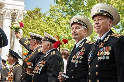 Victory Day, Ribbon Of Saint George, Parade, Veterans