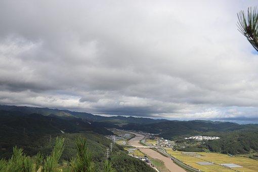 Highway, Road, River, Landscape, Nature, Train