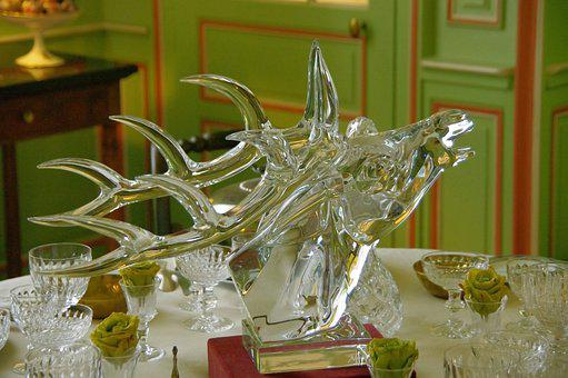 Sculpture, Glass, Decorative, Decoration, Deco, Table