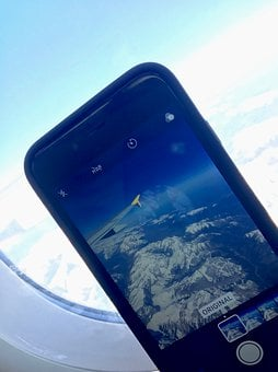Aircraft, Window, Smartphone, Travel, Mobile Phone, Sky