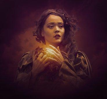 Sorceress, Witch, Fantasy, Dark, Gothic, Medieval