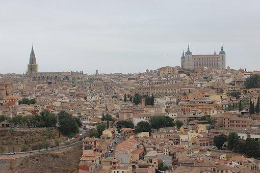 Toledo, Spain, City, Landscape, Historical