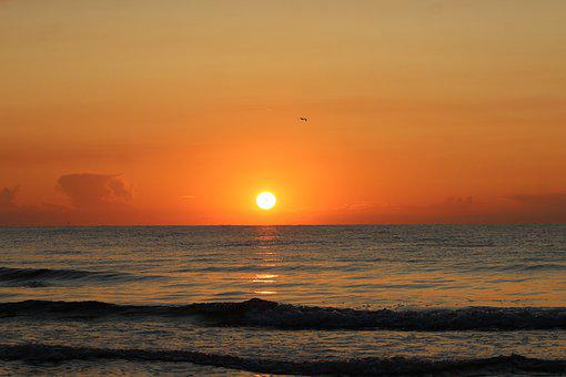 Poland, Sunset, The Baltic Sea, Nature