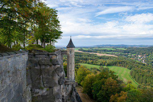 Fortress, Tower, Landscape, Architecture, Middle Ages