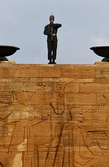 Turkey, Ankara, Soldier, Guard, Uniform, Mausoleum