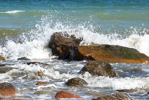 Baltic Sea, Rock, Sea, Water, Coast, Landscape, Nature