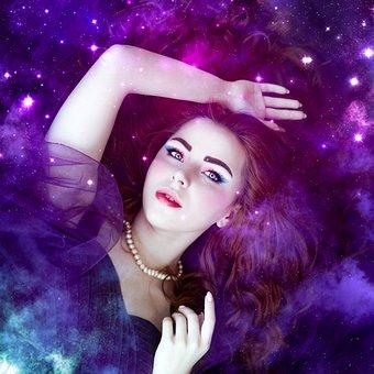 Beautiful, Galaxy, Girl, Young, Female, Space, Woman