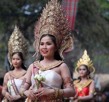 Dancer, Asia, Traditional, Thai, Khmer, Thailand