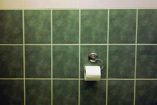 Tile, Bad, Green, Toilet Paper, Tape Dispenser, Tiles