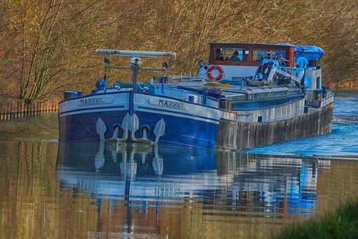 Peniche, Boat, Channel, Water, River, Navigation