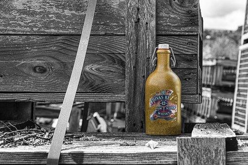 Bottle, Old, Whiskey, Retro, Vintage, Brandy, Color Key