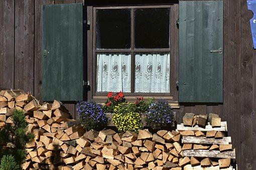 Window, Wood, Flowers, Old, Wooden Windows, Building