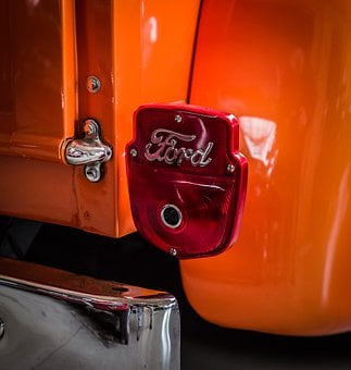 Back Light, Stop Lamp, Ford, Red, Car Tail Light, Auto