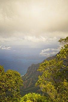 Palisades, Mountain, Sea, Clouds, Sky, Elevation