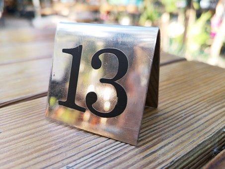 Thirteen, Figure, Lucky, Sinister, Faith, Concept