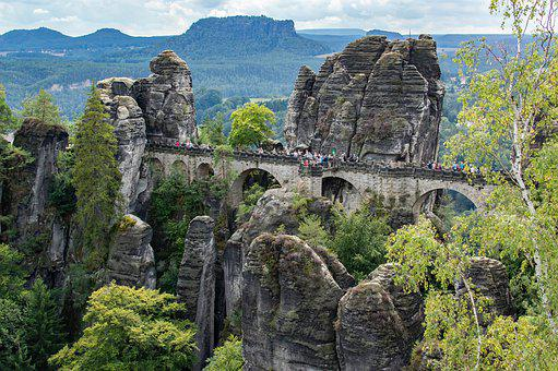 Bastei Bridge, Bastei, Elbe Sandstone Mountains