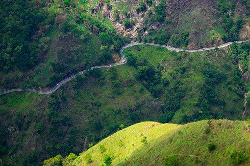 Green, Road, Mountain, Forrest, Landscape, Nature, Hope
