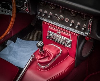 Center Console, Radio, Gear Shift Lever, Jaguar, E Type