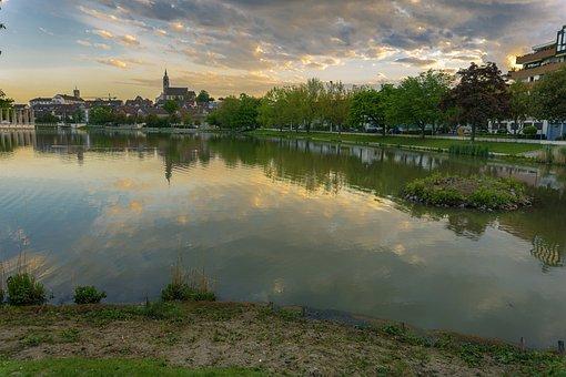 Boeblingen, Germany, Europe, Park, Public, Brine, Water