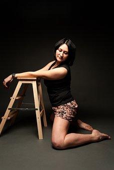 Girl, Brunette, Model, Beauty, Woman, Person, Posture