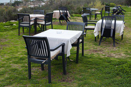 Table, Cafe, Restaurant, Grass, Garden, Service