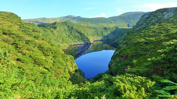Azores, Nature, Lake, Landscape, Water, Green, Island