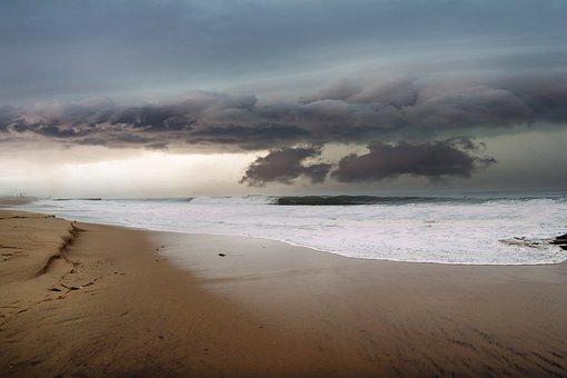 Landscape, Beach, Sand, Sky, Clouds, Costa, Marina