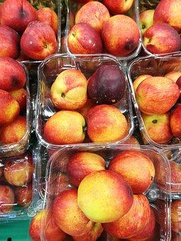 Peach, Fruit, Food, Vitamins, Mature, Fresh, Healthy