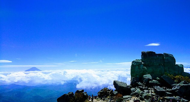 Mountain, Mt, Fuji, Cliff, Rock, Trekking, Climbing