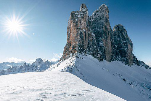 Drei Zinnen, Dolomites, Italy, Mountains, Trail, Alpine