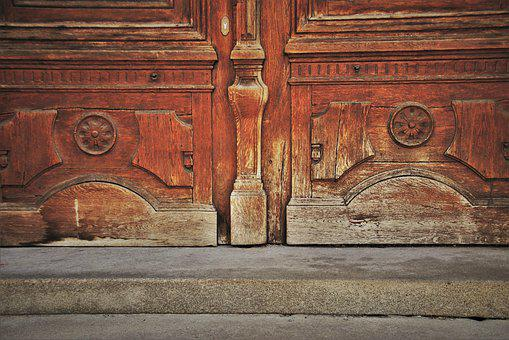 Wooden, Old Door, Uncomfortable, Target, Caries