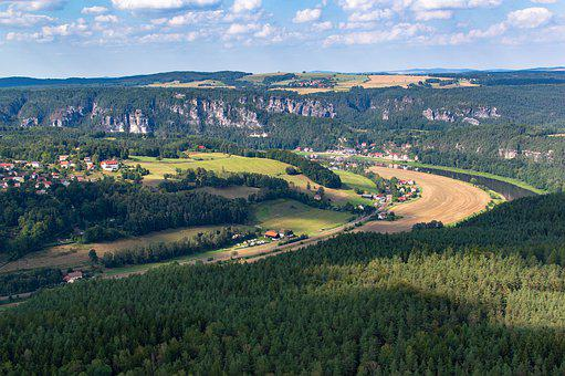 Elbe, River, Idyll, Landscape, Water, Saxon Switzerland