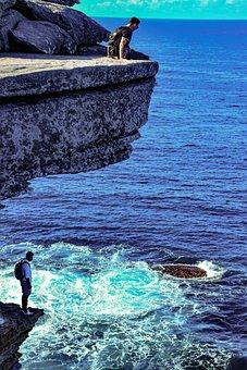 Rocky Shore, Shore Cliff, Beach, Sea, Waves, Landscape