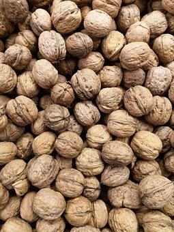 Walnut, Fruit, Seed, Shelled, Brown, Hazelnut, Healthy