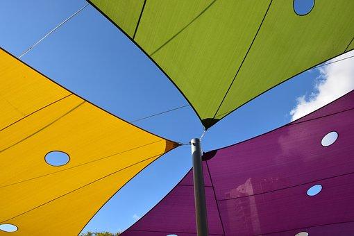 Tent, Shade, Sky, Outdoor, Sunlight, Sunshine, Spring